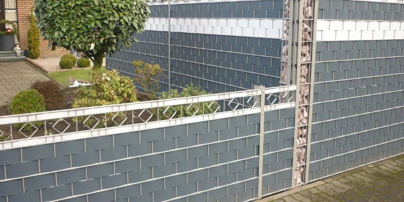 Sichtschutzzaun Aus Doppelstabmatten Mit Sichtschutzstreifen Rotec